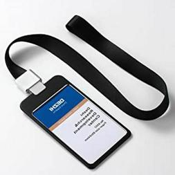 """4"""" x 3"""" Vertical Metal ID Holder, Badge Holder with Lanyard"""