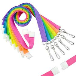 Premium Bright Color Neon Lanyards with Breakaway  by Specia