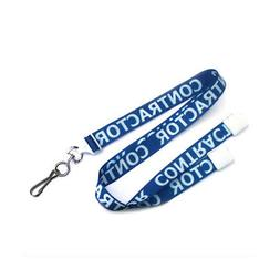 Contractor 36 in. Flat Printed Lanyards