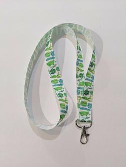 """Desert Cactus or Succulents 1"""" Wide ID Lanyard with Lobster"""