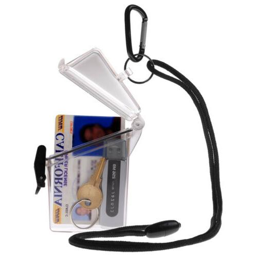 WITZ See it Safe Clear Waterproof ID Badge / Card Holder Cas