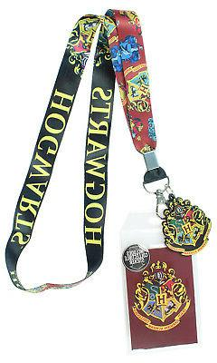 Harry Potter Hogwarts Lanyard with Clear ID Badge Holder, Ru