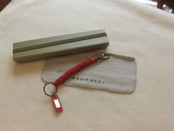 Levenger Pocquettes Lanyard Key Chain-Coral Pink