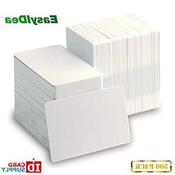 QTY: 500 | White CR80 Standard Size PVC Cards | 20 mil Thick