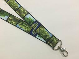 Realistic Southwest Desert Cactus ID Lanyard with Lobster Cl