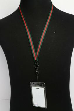 Soft Woven Striped Lanyard  - Colors & Sizes Available